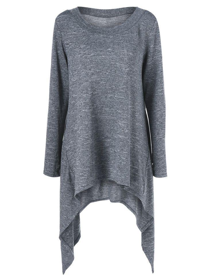 $13.93 Thumb Hole Asymmetric Sweater