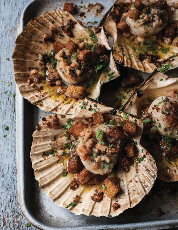 Michelin-starred chef Paul Ainsworth's recipe for Cornish scallops with shrimp butter. Find the recipe here:  http://www.trenchermans-guide.com/michelin-star-chef-paul-ainsworths-cornish-scallops-brown-shrimp-butter-recipe/