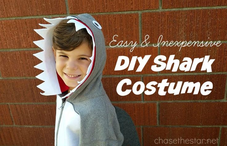 Easy and Inexpensive DIY Shark Costume #MichaelsMakers #DIYCostume #halloween…