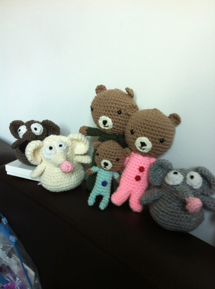 three near-sighted mice and the three bears before their walk