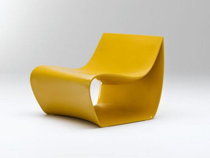 Armchair de poliamida SIGN Coleção Sign by MDF Italia | design Piergiorgio Cazzaniga #design #yellow