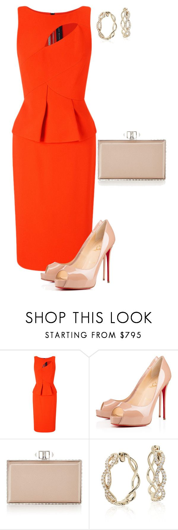 """""""Untitled #790"""" by angela-vitello on Polyvore featuring Roland Mouret, Christian Louboutin and Judith Leiber"""