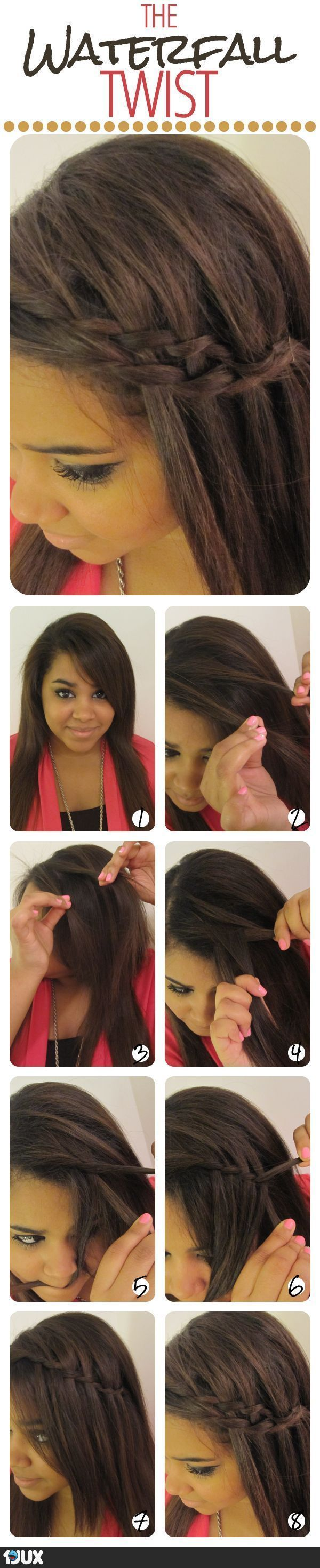 The Waterfall Twist - Hairstyle Tutorial
