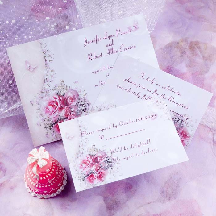24 best Pink Wedding Invitations images – Butterfly Wedding Invitations Cheap