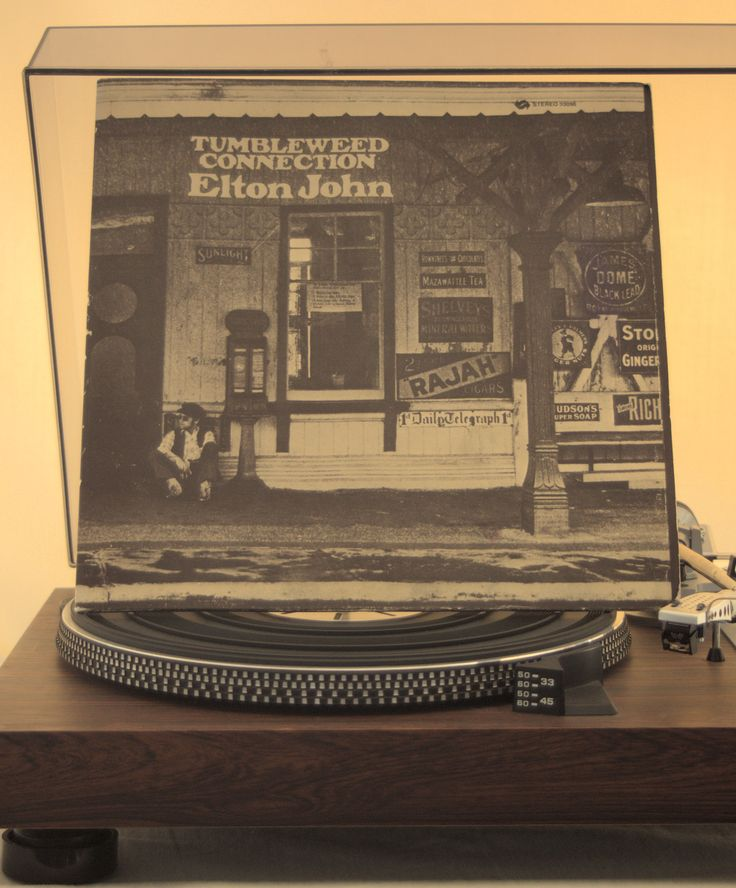 Elton John Tumbleweed Connection  album cover on my turntable.