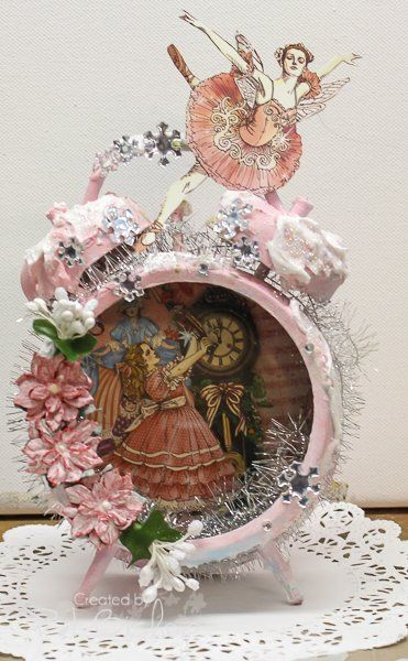 Altered clock with G45 Nutcracker papers