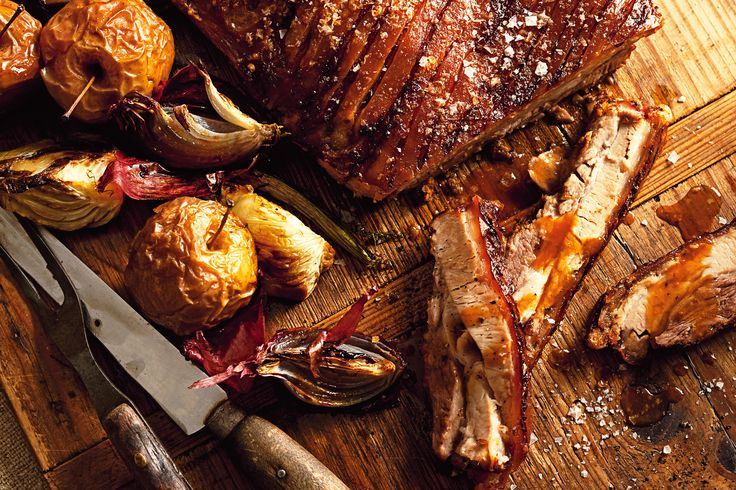 Succulent pork belly with crispy crackling is perfectly paired with the flavours of fennel and apple.