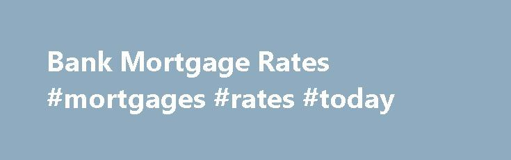 mortgage rates bank of america