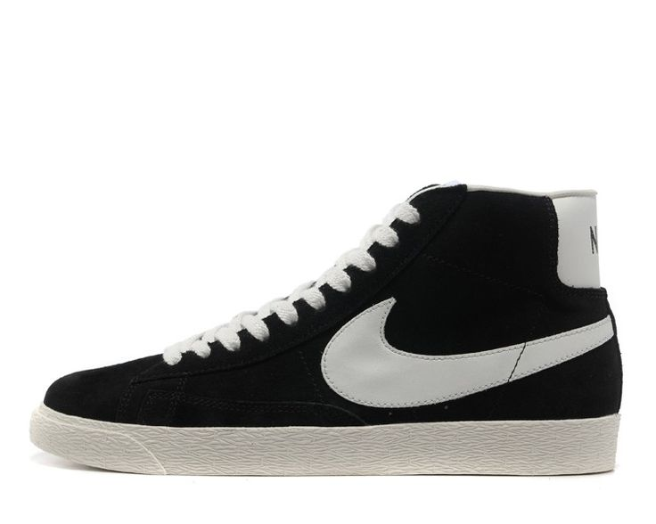 Best Drop Shipping Nike Blazer Mid Prm Womens Skateboard shoes black[403729-100]