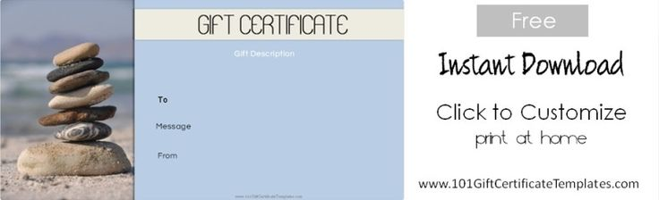 12 Best Spa And Saloon Gift Certificate Templates Images On