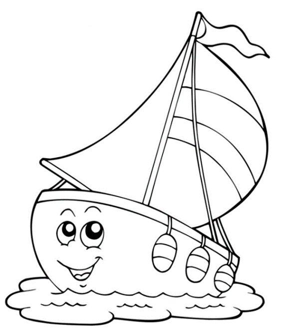 Ausmalbilder Yacht Einfach Kostenlos Coloring Pages Colouring Pages Free Coloring Pages