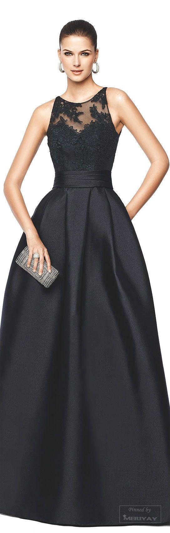 Más de 40 vestidos de fiesta color negro | Vestidos Glam