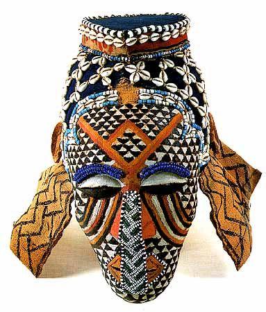 Africa |  Ngady aMwaash mask of the Kuba. Democratic Republic Congo.  c. 1900