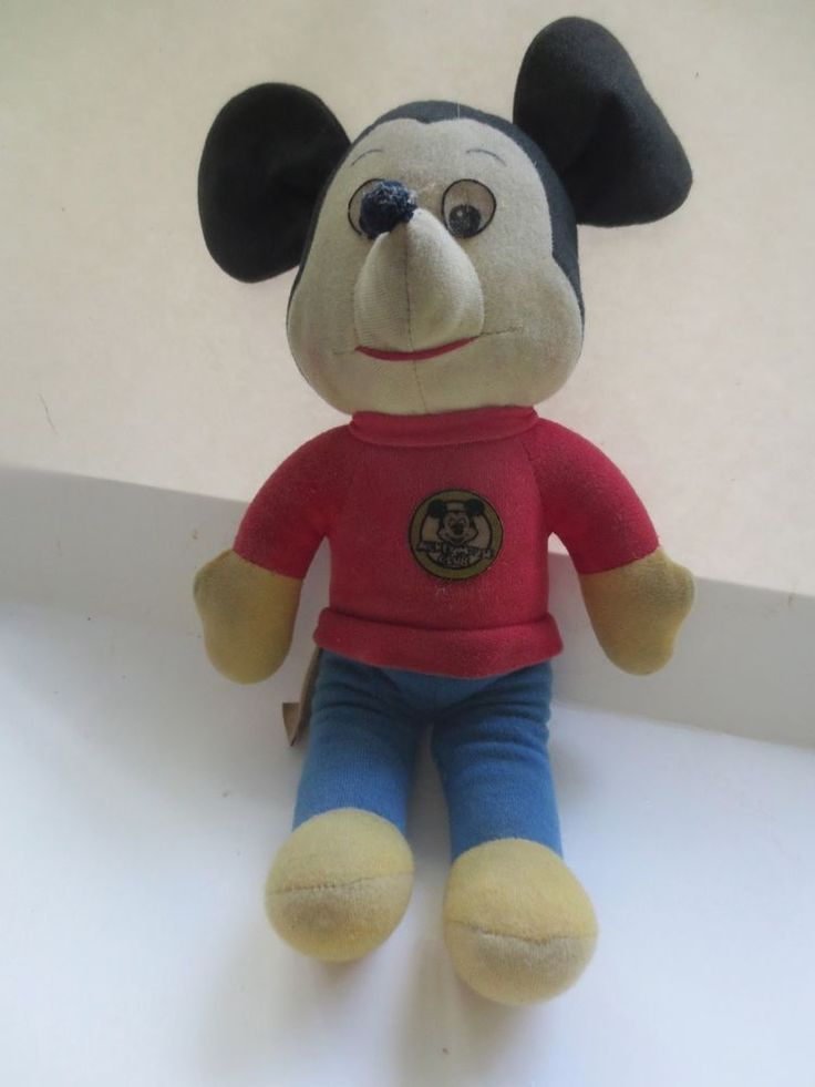 Disney Mickey Mouse Club Plush Stuffed Doll Toy Vintage 1976 Knicerboker