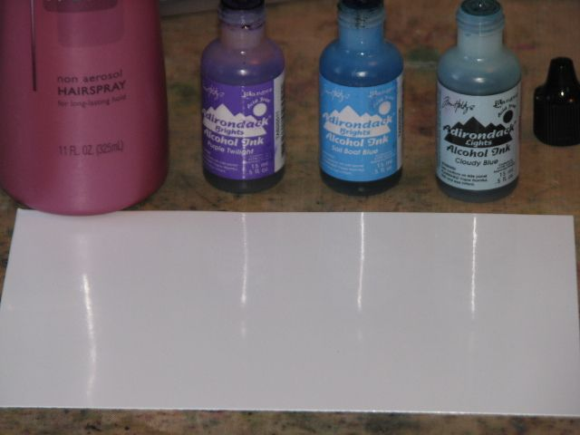 Where Can I Buy Hair Spray Paint Part - 20: Alcohol Inks With Hair Spray, On Glossy Paper. Ranger Calendar - Alcohol  Inks 001