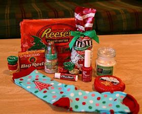 Christmas Sock exchange party! Everyone brings a pair of Xmas socks filled with goodies!