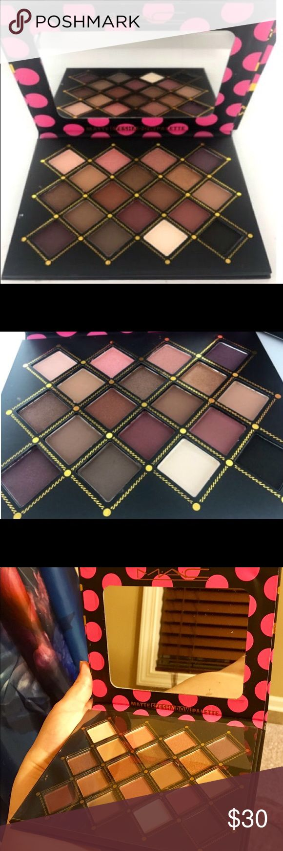 Brand new 18 color MAC matte eyeshadow palette. MAC matte eyeshadow.  New and in box. MAC Makeup Eyeshadow #colorfuleyeshadows
