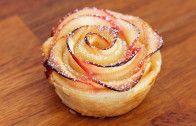 Apfel-Blätterteig-Rosen