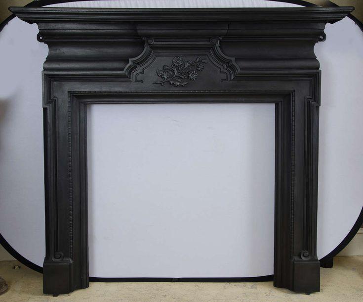 Antique Edwardian Cast Iron Fireplace Surround Gardens