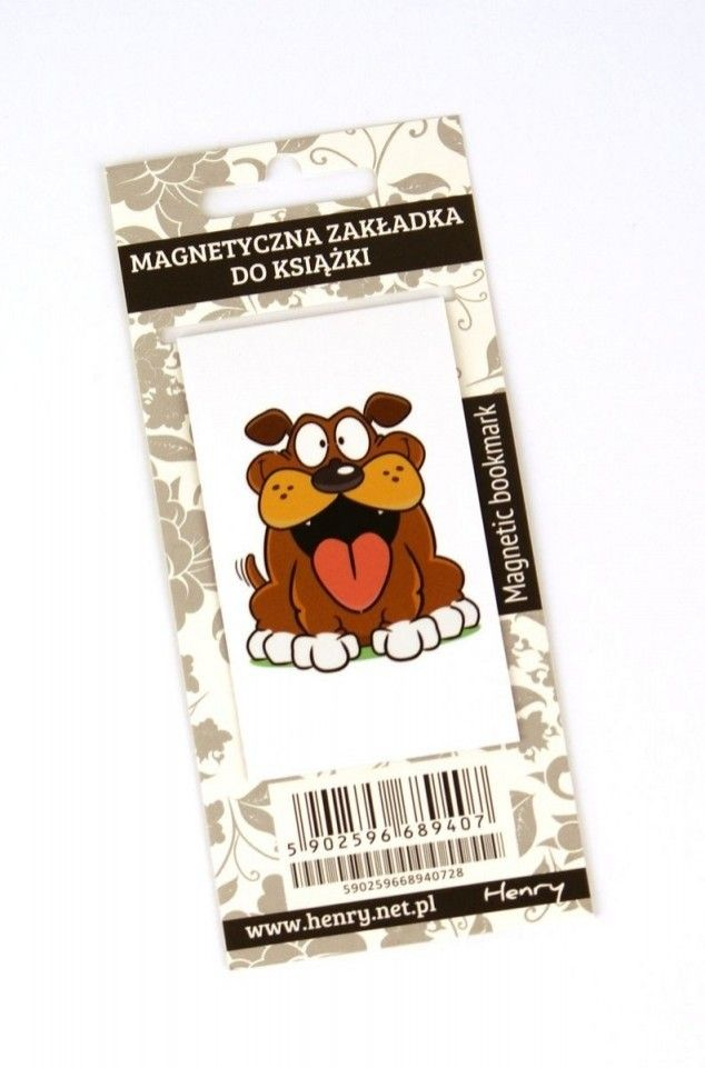 Zakładka magnetyczna. Pies #książki #zakładka #gadżety  http://bookinista.pl/Zakladka-magnetyczna-Pies,p,122259