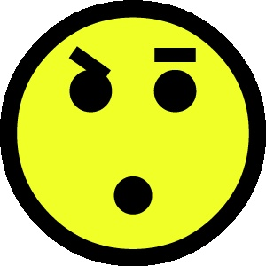 smiley 1 verbaasd 2 FC sticker