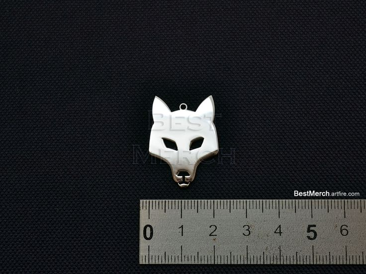 WOLF Necklace Stainless Steel Pendant Logo Symbol Merch