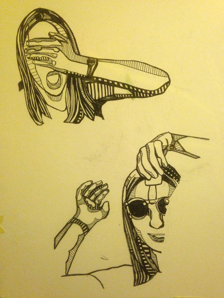 A2 ART/ILLUSTRATION - work in progress of illustrative portrait