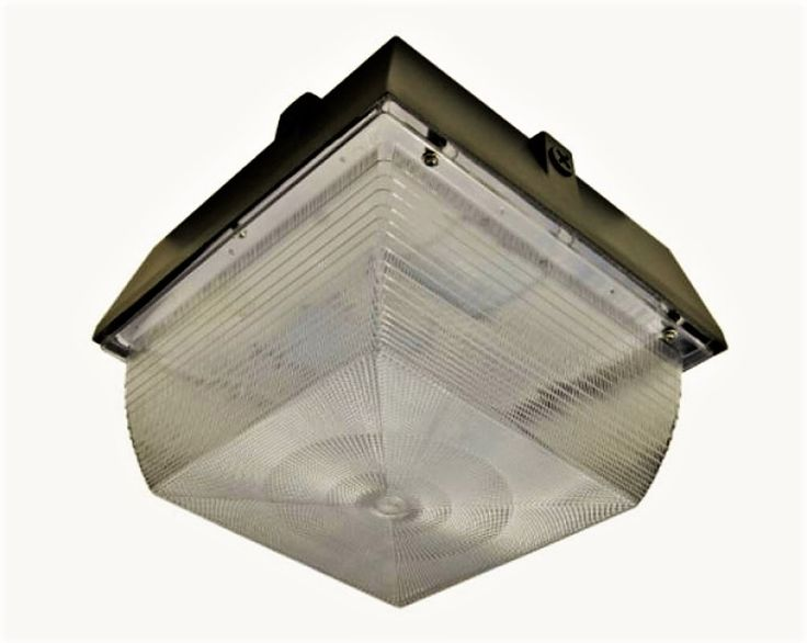 ANDO Vandal Resistant LED 50w Garage-Canopy Light – UL Wet-Listed LED Canopy Fixture with Samsung LEDs – 80 CRI – 5,255 Lumens available at Access Fixtures, from $219.87.   The ANDO Vandal Resistant LED 50w Garage-Canopy Light features name-brand LED chips (Samsung 3030 SMD), die-cast aluminum housing with stainless steel hardware, and an efficacy of over 100 lumens per watt. Compare to the ANDO Vandal Resistant LED 20w Garage-Canopy Light.
