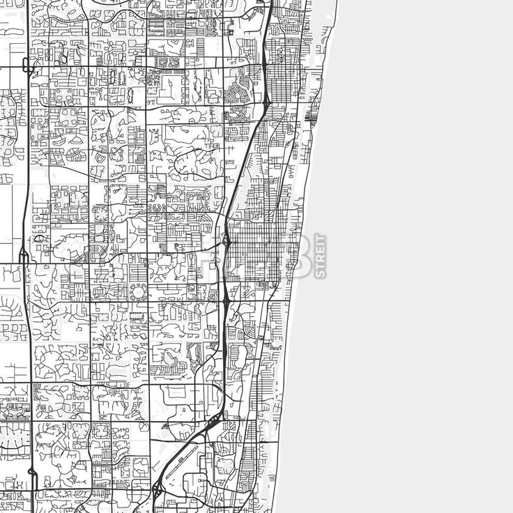The 25 best map of florida beaches ideas on pinterest map of delray beach downtown and surroundings map in light shaded version with many details for high zoom publicscrutiny Choice Image