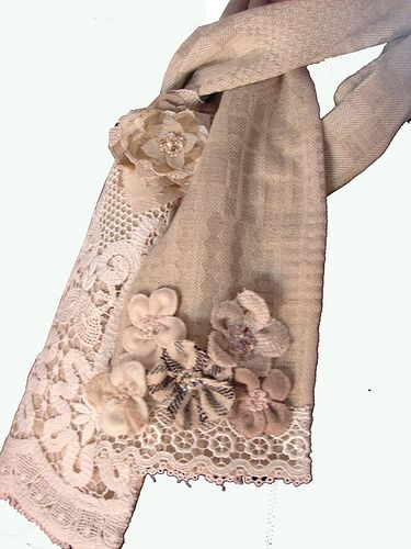 Beige scarf | for information go to www.roxycreations.blogsp… | Flickr