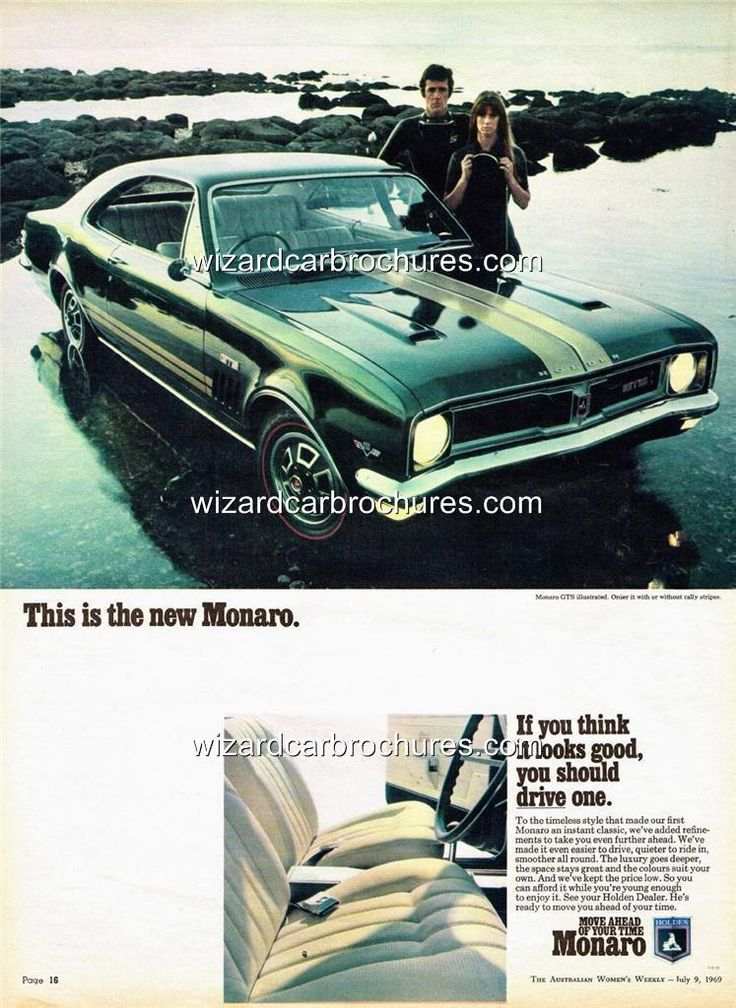 1969 holden ht monaro gts 350 a3 poster ad advert advertisement sales brochure holden. Black Bedroom Furniture Sets. Home Design Ideas