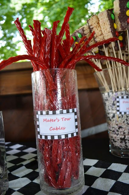 The Pethel Family: A Cars Birthday Party -- Great snack ideas and names