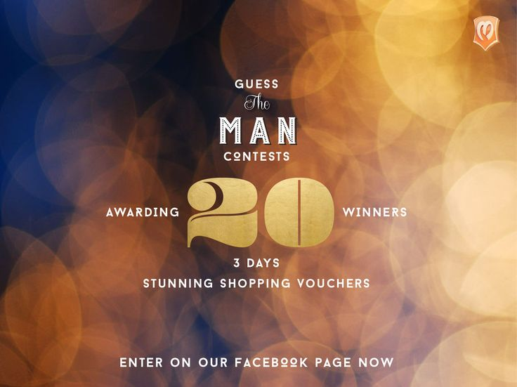 GUESS & WIN Shopping Vouchers. The contest is now open on our Facebook page @Manyavar and @MoheybyManyavar. Like page to stay tuned. Announcing winners on 1st October. #GuessTheMan