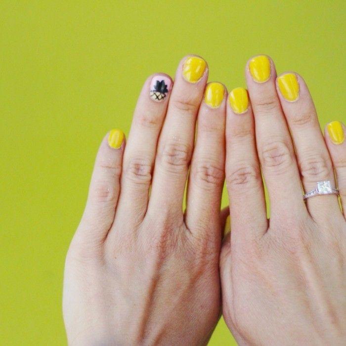 Die Besten 25+ Gelber Nagellack Ideen Auf Pinterest | Gelbe Nu00e4gel Gelbe Nu00e4gel Und Herbst Nagellack