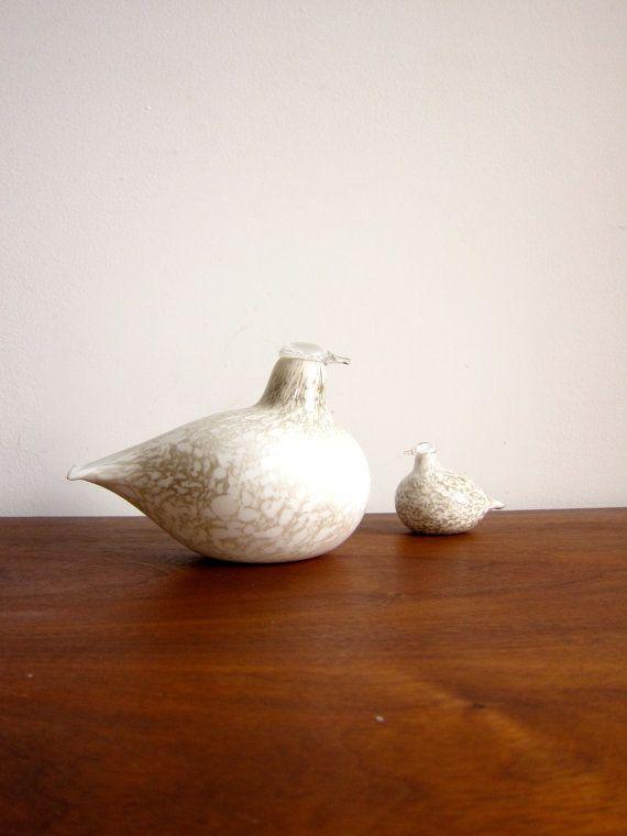Oiva Toikka Glass Bird Nuutajarvi iittala Willow by ModernSquirrel
