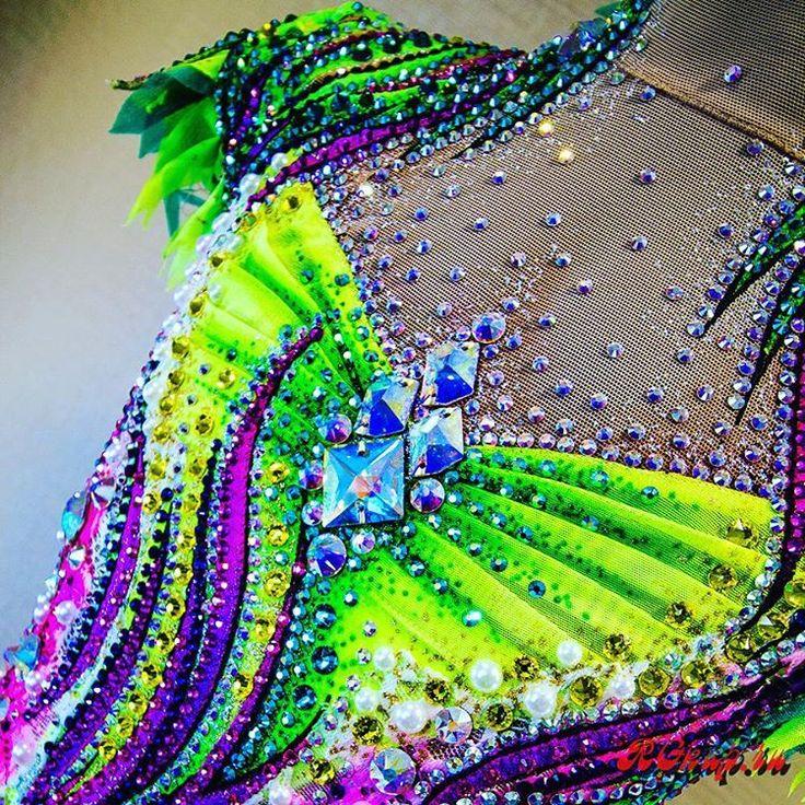 "Wow! On my mind, I've just made the really most beautiful RG leotard! I called it ""RIO"". Congratulations to me#leotards #leotard #leotards2017 #rg #rgkup #ritmica #rhythmicsgymnastics #rhythmics #gymnast #gymnastics #gymnasticslife #body #dress #cokorful #handmade #outfit #unitard #sport #dancewear #sportswear #vsco #vscocam"