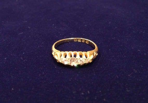 Эдвардианское помолвочное кольцо с бриллиантами. от ArtJewelsStore