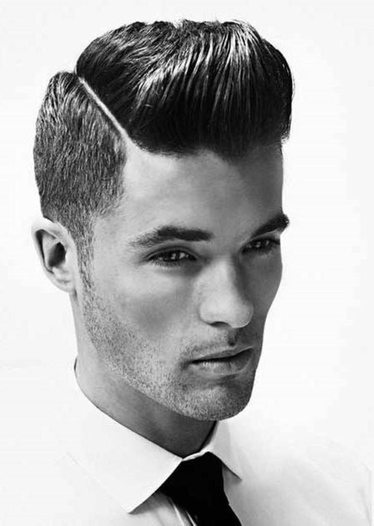 Best Hairstyles , Best Mens Hairstyles 2015 : Slicked And Buzzed Hairstyle 2014