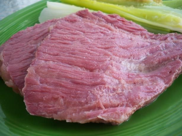 Corned Beef / Corned Silverside for the Crock Pot from Food.com: Beautiful slow cooked corned meat. Put it on in the morning and it's ready by dinner time when you arrive home. This recipe actually came with my Sunbeam Slowcooker/ Crockpot and my family really loved it. It was so tender and moist