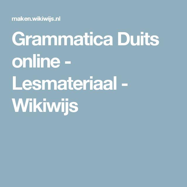 Grammatica Duits online - Lesmateriaal - Wikiwijs
