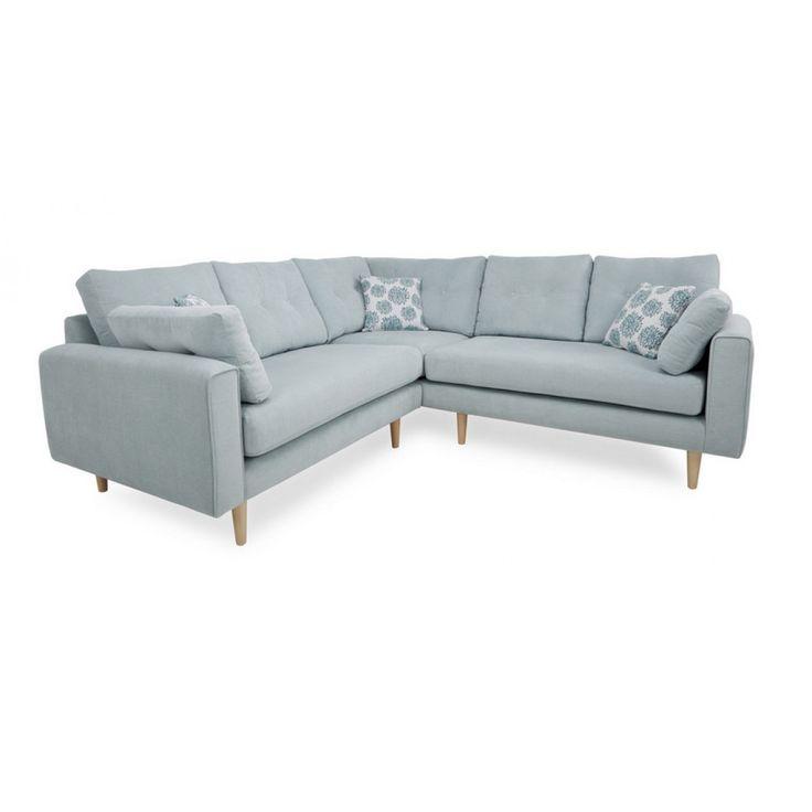 Grand canapé d'angle personnalisable CALAIS (lin ou microfibre)