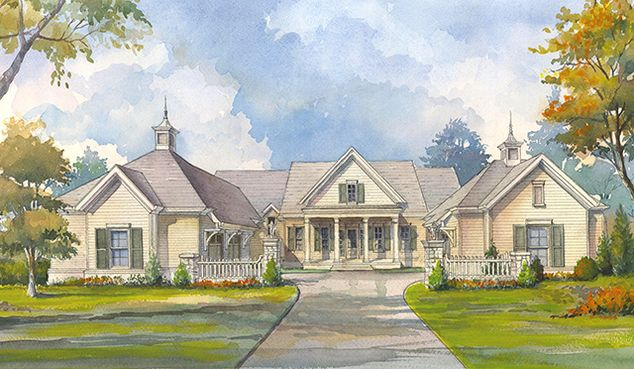 19 best hacienda spanish ranch exterior images on for Manor farm house plan