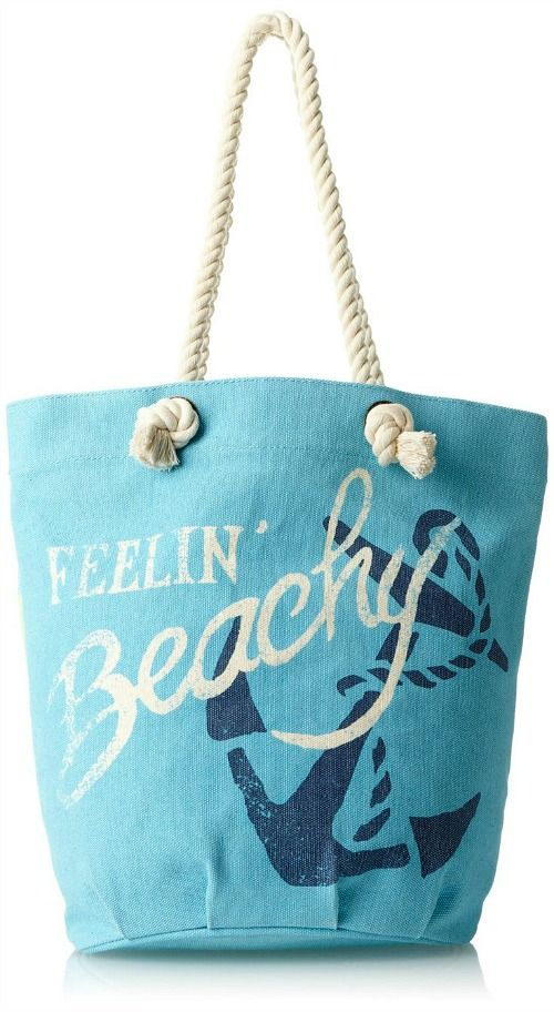 Feelin' Beachy...Beach Bag with Saying: http://beachblissliving.com/best-beach-bags/