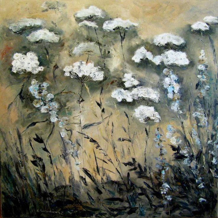 Kwiaty, 100x100, olej