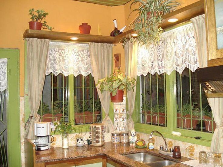 cortinas tejidas a crochet para cocina - Buscar con Google