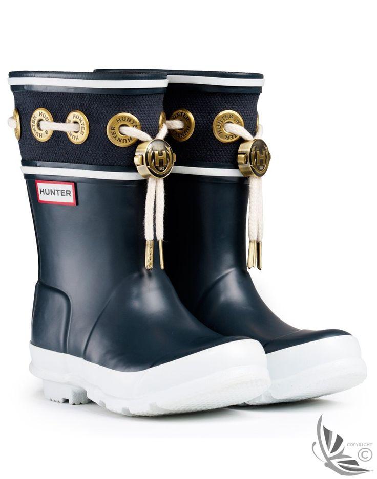 Hunter Kids' Thurlestone Wellington Boots - Navy £49.00