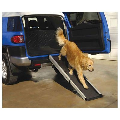 Allow your dog to safely get in and out of your car with the sturdy and non-slip Smart Dog Car Ramp!