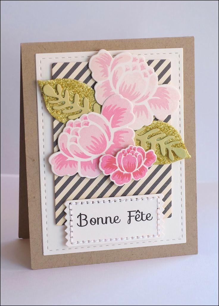 16 Creative Card Making Ideas Part - 33: Overnight Waffles: Papertrey Make It Monday Glitter Embellishments Part 2  Rosie Posie