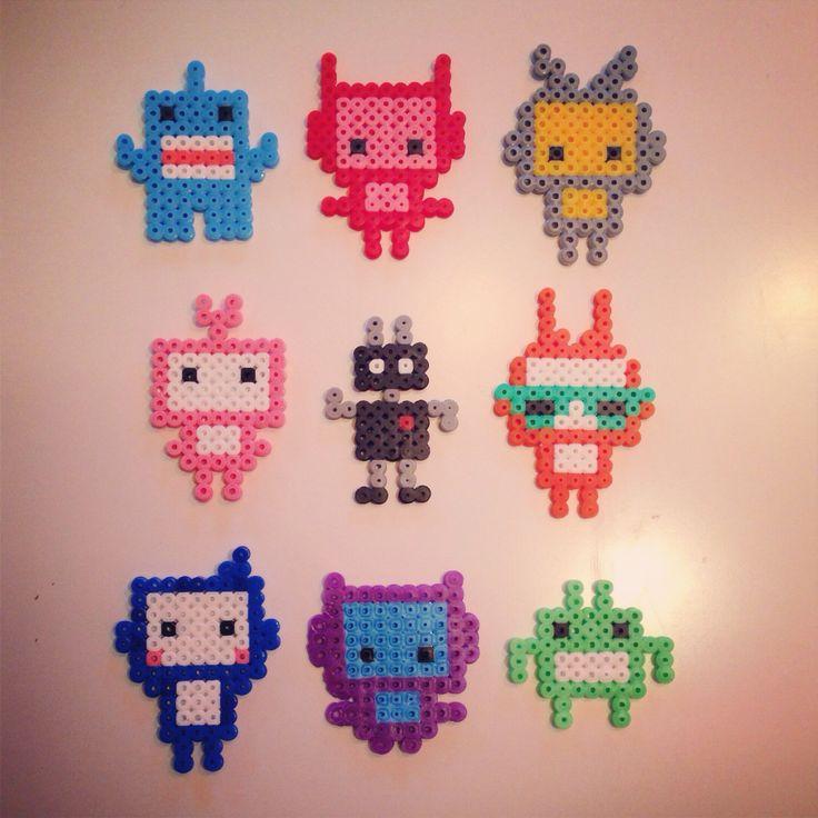 Hama bead robot/monster collection