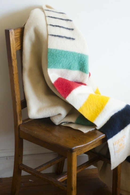 The Hudson's Bay point blanket. Made since the 18th Century and still in production. 100% wool. #Canadian